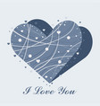 beautiful heart decorated with stripes and circles vector image