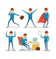 business sphere businessman in office activities vector image vector image