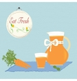 Carrot Juice Healthy Diet Organic Living Vitamins vector image