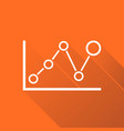 chart graph icon with long shadow business flat