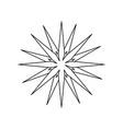 christmas star celebration decoration light vector image