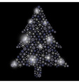 christmas tree from snowflakes eps10 vector image vector image