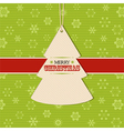 Christmas tree label background vector image vector image