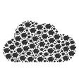 cloud figure of piggy icons vector image vector image