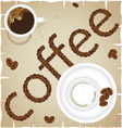 Coffee time abstract vector image vector image