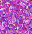 Colorful chaotic triangle mosaic background vector image vector image
