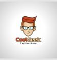 cool geek logo vector image