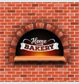 creative of stone brick pizza vector image
