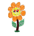 cute flower art vector image vector image