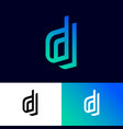 d letters on different double monogram vector image vector image