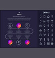 drink infographic template elements and icons vector image