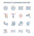 duct cleaning icon vector image vector image