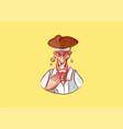 emoji sticker captain mascot laugh vector image vector image