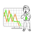 Emotions of a SIM trader vector image vector image