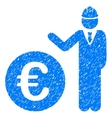 Euro Developer Grainy Texture Icon vector image