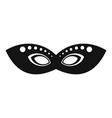 festive event mask icon simple style vector image vector image