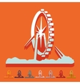 Flat design singapore flyer vector image