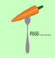 fork with a carrot healthy food concept vector image