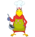 Funny Parrot Cook vector image vector image