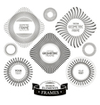 Geometric frames and labels vector image vector image