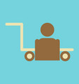 icon in flat design for airport baggage porter vector image
