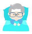 ill grandfather cartoon vector image
