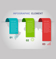 infographic elements template on gray background vector image vector image