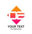 initial letter de logo design template element vector image vector image