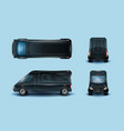 innovative commercial van realistic set vector image