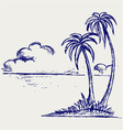 Island palm vector | Price: 1 Credit (USD $1)