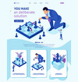 isometric big business makes chess game vector image vector image