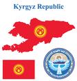 Kyrgyz Republic Flag vector image vector image