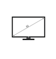 lcd tv black and white vector image vector image