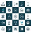 logo blockchain vector image vector image