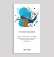 man working with laptop internet business vector image vector image