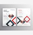modern business brochure flyer design template vector image vector image