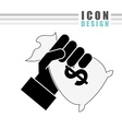 money icon design vector image vector image
