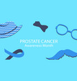 mustache hat and glasses a blue ribbon man vector image vector image