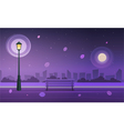 Night in city park vector image vector image