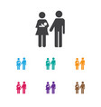 of child symbol on family icon vector image