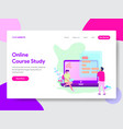 online course student concept vector image vector image