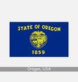 oregon usa state flag or usa vector image vector image