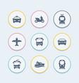 passenger transport icons public transportation vector image vector image
