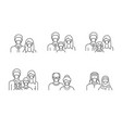 people avatar flat icons vector image vector image