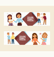 quarrel people man woman in family conflict vector image vector image