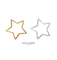 realistic metallic golden and silver star on white vector image