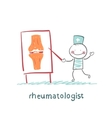 rheumatologist says about the pain in the joints vector image vector image