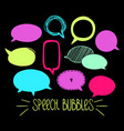 round speech bubbles 2-06 vector image vector image