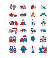 russia icons set sketch for your design vector image vector image