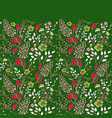 Seamless border of flowering branches cute little vector image